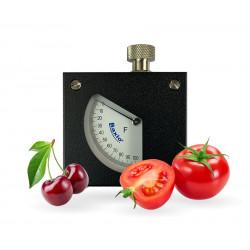 Durómetro para fruta: cereza y tomates